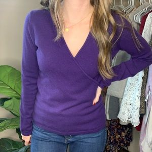 Charter Club Cashmere Wrap Front 2 Ply Sweater